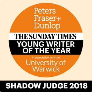 SUnday Times Young Writer of the Year shadow judge